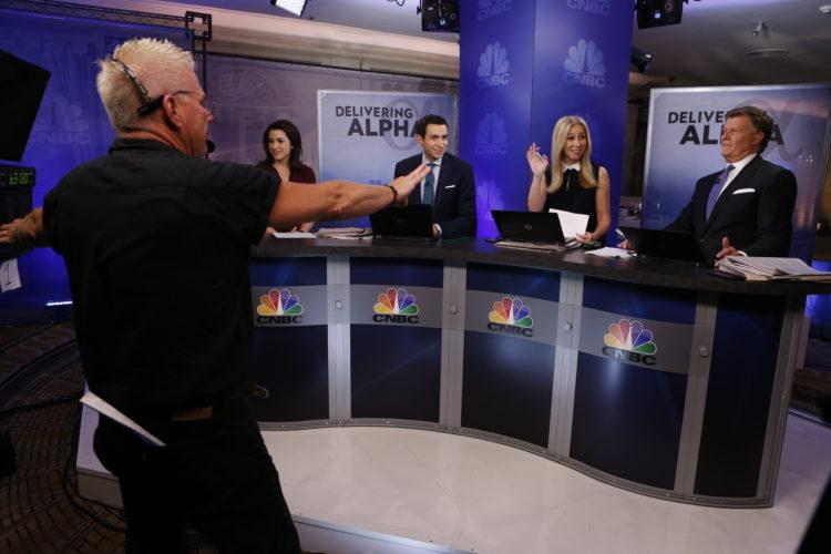 broadcast set behind the scenes