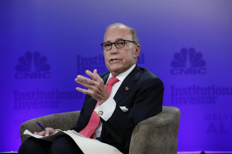 DELIVERING ALPHA -- Pictured: Larry Kudlow, Director, United States National Economic Council, at the CNBC Institutional Investor Delivering Alpha conference July 18th in NYC. -- (Photo by: Heidi Gutman/CNBC)