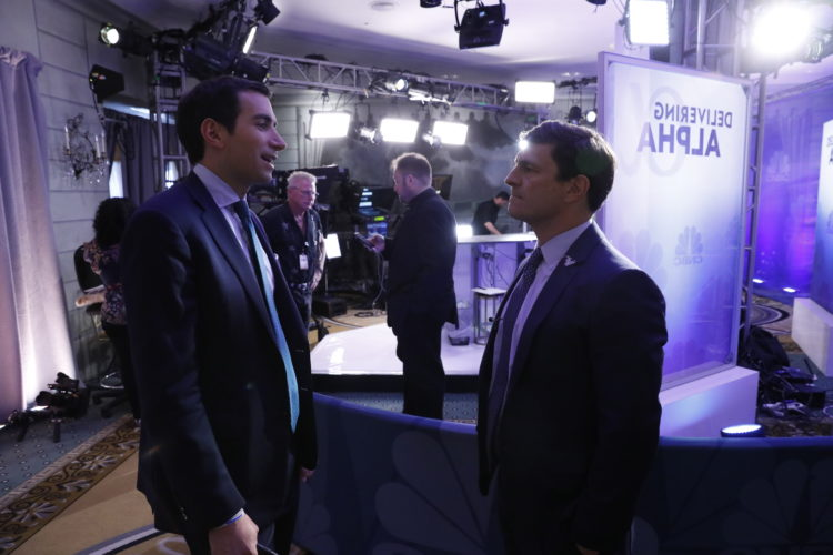 DELIVERING ALPHA -- Pictured: (l-r) , at the CNBC Institutional Investor Delivering Alpha conference July 18th in NYC. -- (Photo by: Heidi Gutman/CNBC)